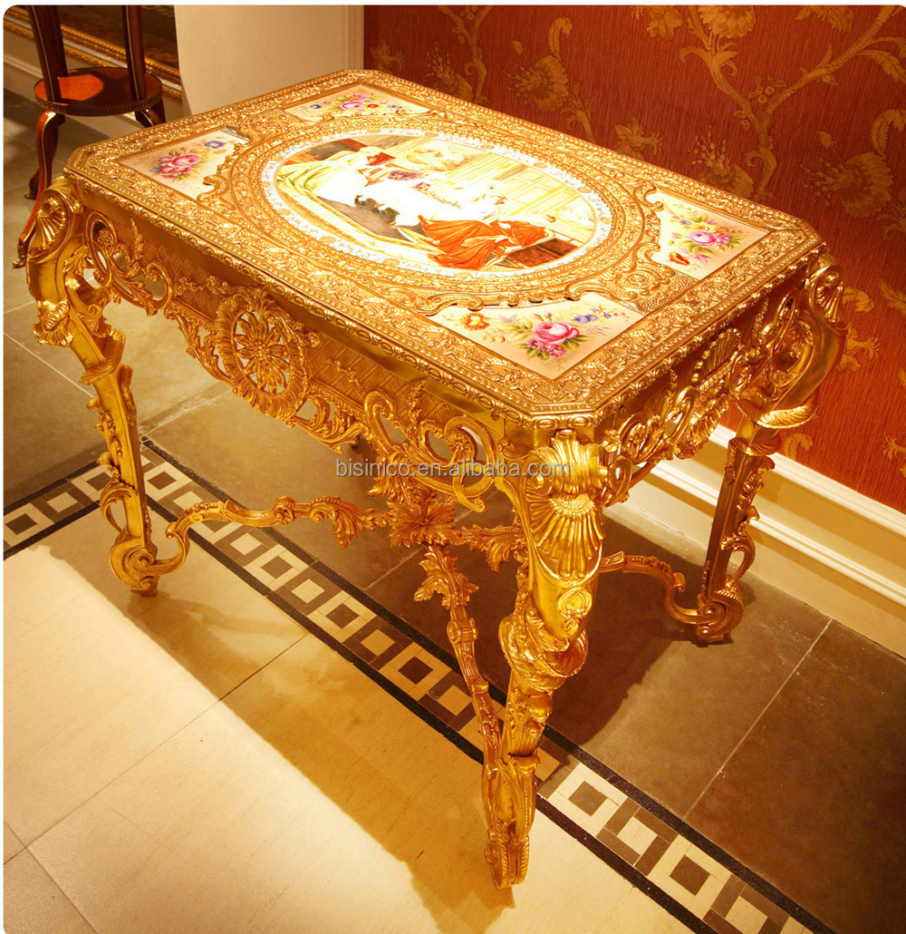 Luxury French Louis Xv Style 24k Gold Plated Brass Coffee Table ...