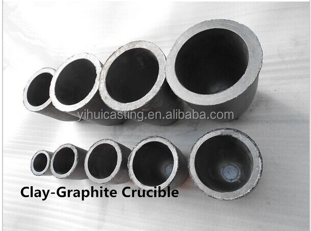 20KG Capacity-Clay graphite crucible for gold silver cooper aluminum melting