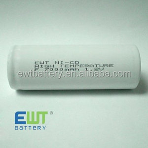 Ni-CD F size rechargeable batteries 1.2V 7000mAh cell