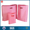 eco-friendly pink shopping mart polythene die cut bags