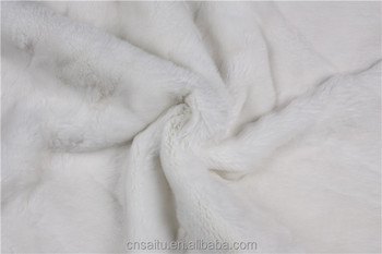 Creamy White Color Rex Rabbit Fur Plate For Garments Factory Supply Real Materials