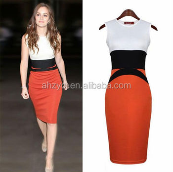c3aa195f4f162 Wholesale Women Clothing Western Style Star Dresses Ol Office Tight Fitting  Knitted Sleeveless Patchwork Fashion Dress - Buy Fashion Dress,Fashion New  ...