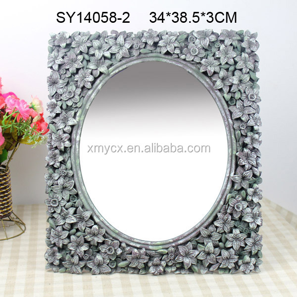 home decorate heart shaped mirror frame decorative bathroom - Decorate Mirror Frame
