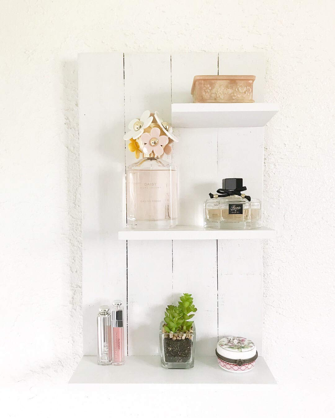 Wooden Shelf, Wooden Rustic White Shelf, Display Shelf, Wooden Shelf Organizer, Wall Shelf, Shelf, Perfume Shelf, Wooden White Shelf, White Organizer, Bathroom Shelf, White Bathroom Shelf, Display