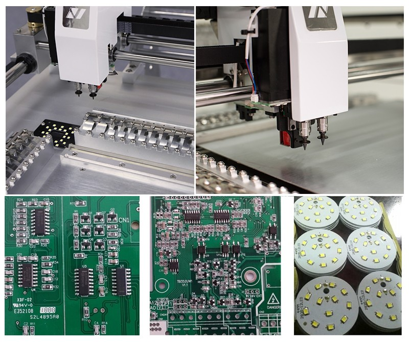 New Desktop pick and place equipment NeoDen3V-STD with camera/vision in SMT production Line