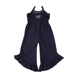 2019 new winter factory wholesale long ruffle lien children clothes caters baby girls cute cheap denim baby knitted romper
