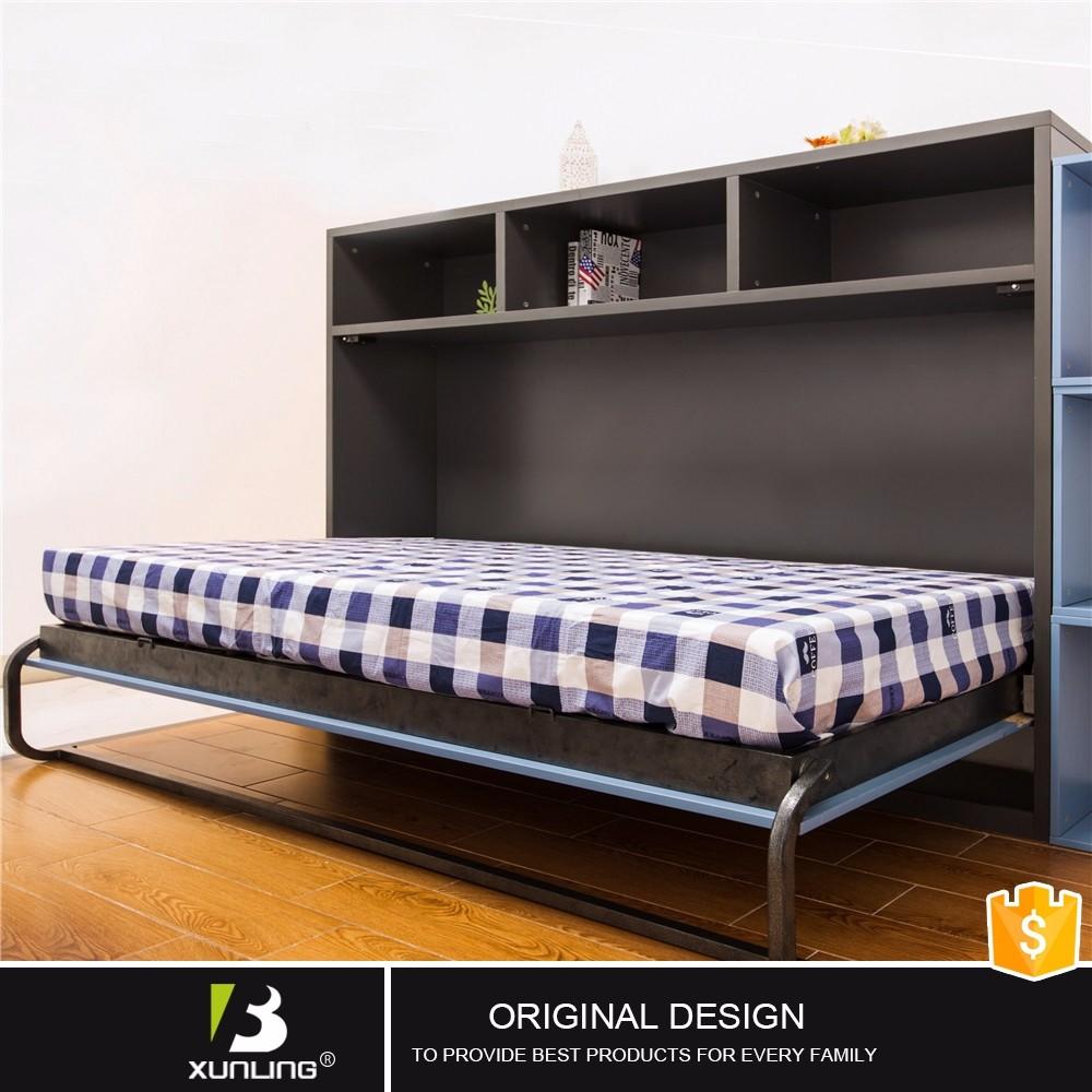 Ruimtebesparend innovatieve bed in kast custom hout bedden bedden ...