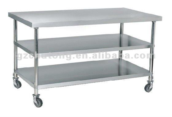 Mesa De Trabajo Con Bajo Estantes/cocina Mesa Con Ruedas - Buy Mesa ...