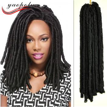Factory Price Ebony Soft Dread Lock Synthetic Braiding Hair