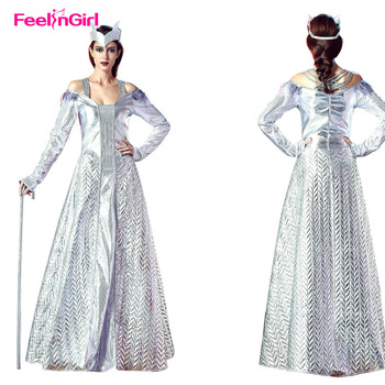 a2689f3a6e Free Shipping Long Sleeves Headwear White Queen Fancy Dress Adult Costume -  Buy Adult Costume,White Queen Costumes Fancy Dress,Queen Costume Product ...