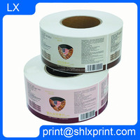 Custom Cheap Roll Vinyl Sticker double-sided adhesive label