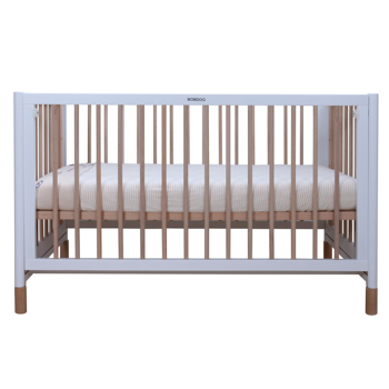 Factory Direct Sale Solid Wood Cot Mobile Removable White Baby Crib