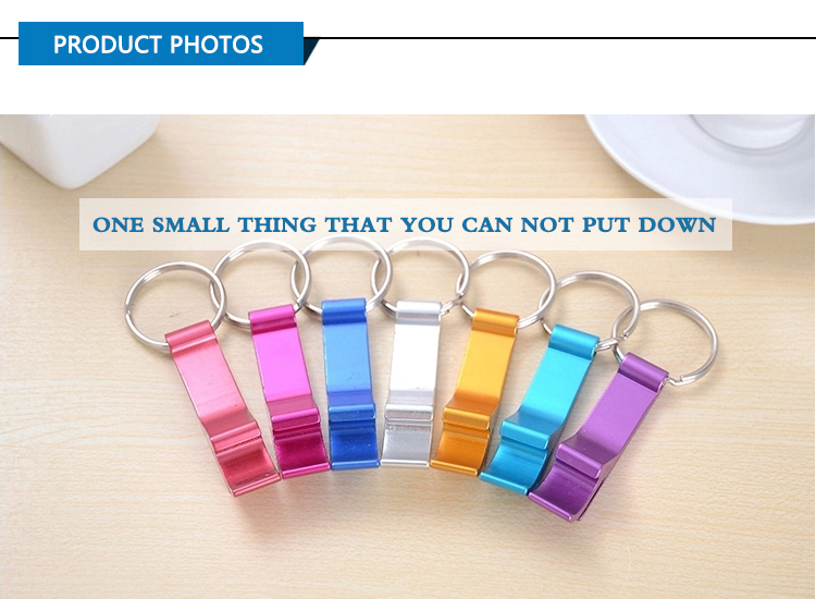 Cheap Wholesale Personalized Custom Logo Metal Aluminium Keychain Beer Bottle Opener