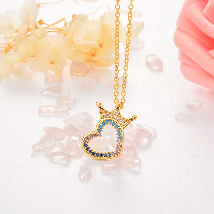 Modalen Crown Women Rainbow Necklace