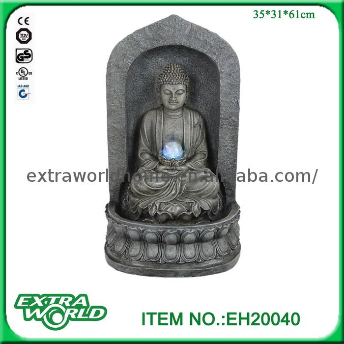 Meditating Bronze Seated Buddha Big Fountains