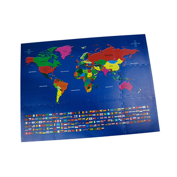 Custom World Map Eva Printing Foam Kids Puzzle 10pcs Eva Foam Mat ...