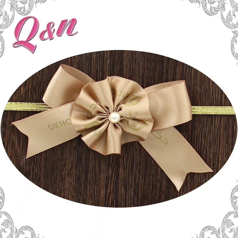 Hot selling customized logo gift packing satin ribbon