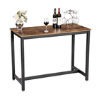 VASAGLE Chinese antique bar table classical industrial wood and iron long side table / wooden console table