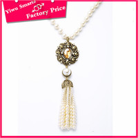 bali gemstone long gold beads necklace tassel designs jewelry luxury pearl necklace with magnetic clasp