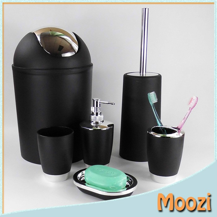 bathroom set plastic washroom bath accessory set