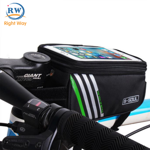 Latest Popular Waterproof Cell Phone Bag Folding Bicycle Frame Bag