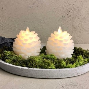Christmas candles Pine cone candles