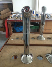 brass chrome plated silver single tap way cobra beer tower