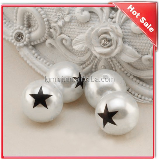 Wholesale Colorful print pearl bead for jewelry