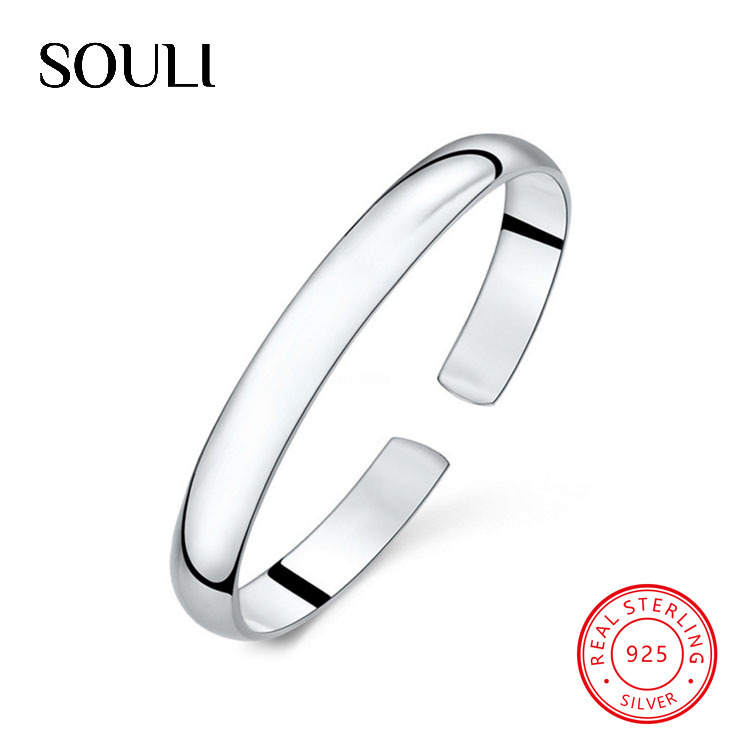 Fine Jewellery 999 Sterling Silver Bangle Luxury Open Blank Bracelet for Mother Day Gifts