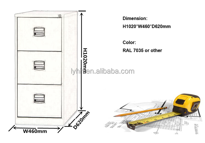 Modern Design&grey Metal 3 Drawer Filing Cabinet Legal Standard ...