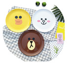 Biodegradable Bamboo Fiber Serving Dinner Dessert cartoon pictures Plates with FDA and LFGB certificate