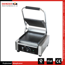 Commercial Panini Press Sandwich Grill with Ribbed Top & Smooth Bottom Plate