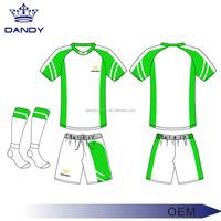 High quality manufacture school football team customized thai quality soccer Jersey set / soccer uniform