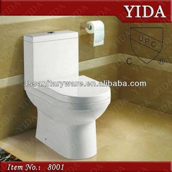 Siphonic One Piece Toilet Cupc Toilet Bowl Usa Wc Upc