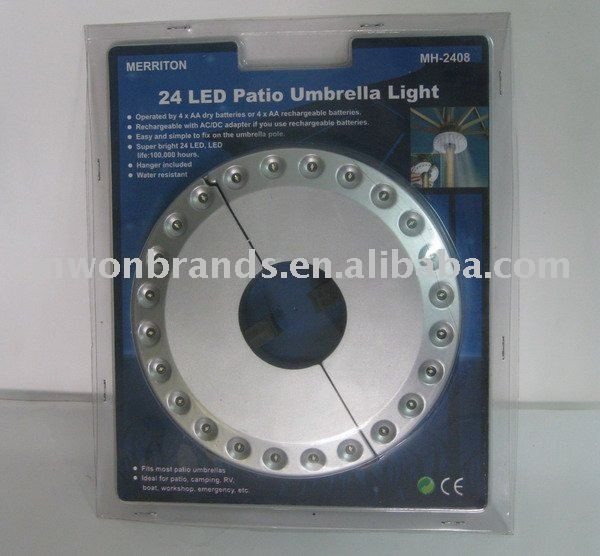24 LED Patio Umbrella Light