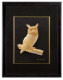 Special designed Owl 3D gold foil die cut frame picture best for home decoration or gift
