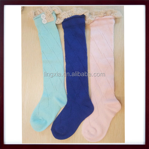 a09d01d82 Wholesale Ruffled Knitted Children s Boot Socks With Lace