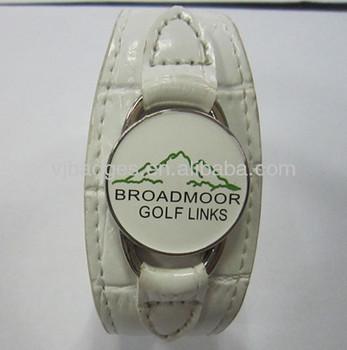 Fashion Printed Logo Golf Ball Marker Bracelet
