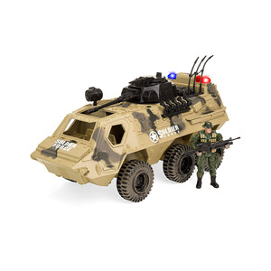 Military Fighter Toy Tank Truck w/ Army Soldier, Lights, Sound Play Set