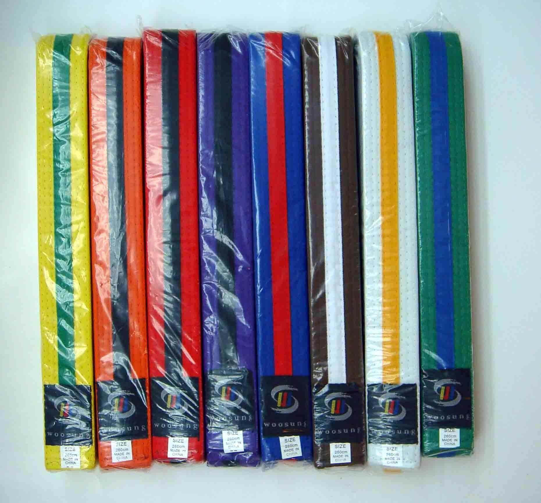 Las artes marciales Karate Tae Kowan Judo Jiu Jitsu cinturones de Color TKD  uniforme DOBOK Kendo 1b44bc6a0dfb