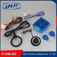 New RFID car alarm with engine button start stop