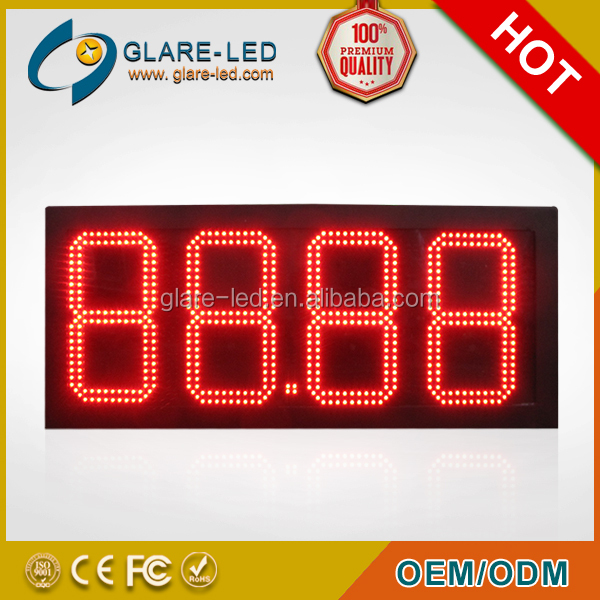 18/16/14/12inch Gas station 7 segment digital LED gas price display/ panel /board/screen