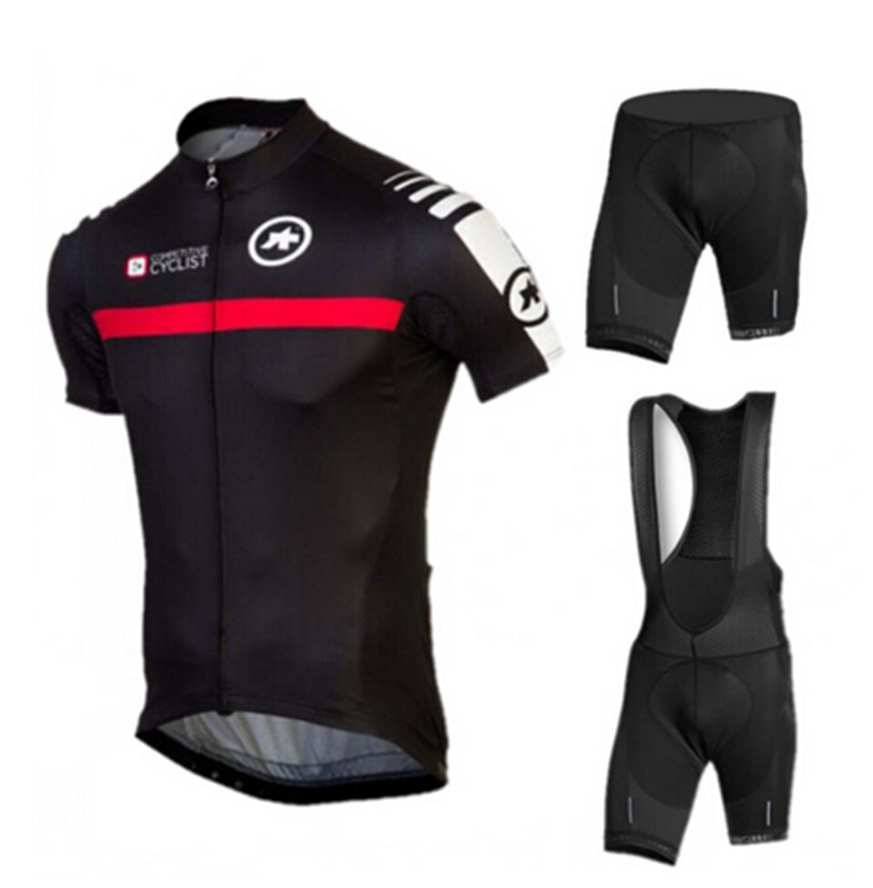 Get Quotations · 2015 assos cycling clothing short sleeve cycling jersey  black breathable ropa ciclismo gel pad bib short f8473e504