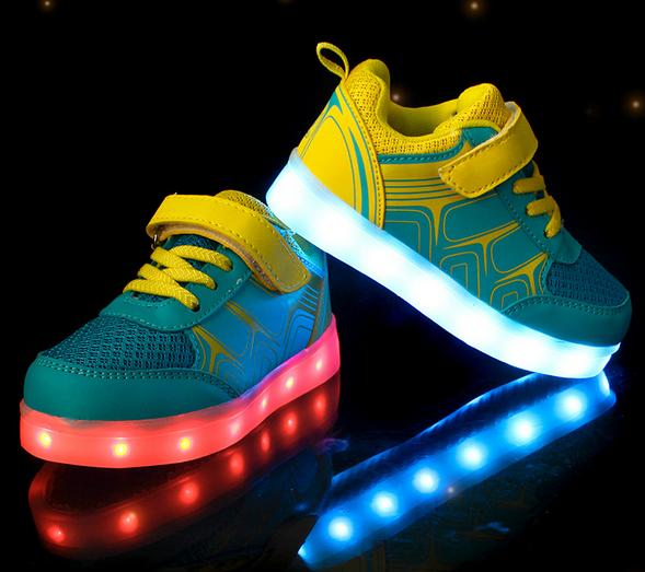 Fashion 8 Colors Kids Sneakers Charging Luminous Lighted Colorful LED lights Children Shoes Casual Flat Girls Boy Shoes