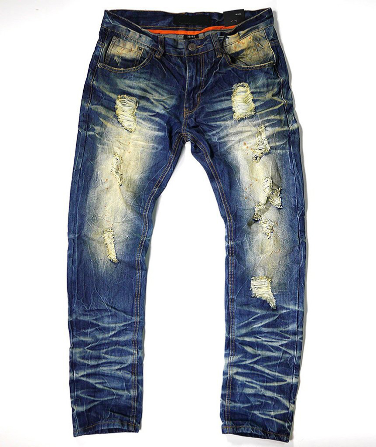 Royal wolf denim garment factory 2017 men fashion jeans dirty old look skinny ripped jeans for men