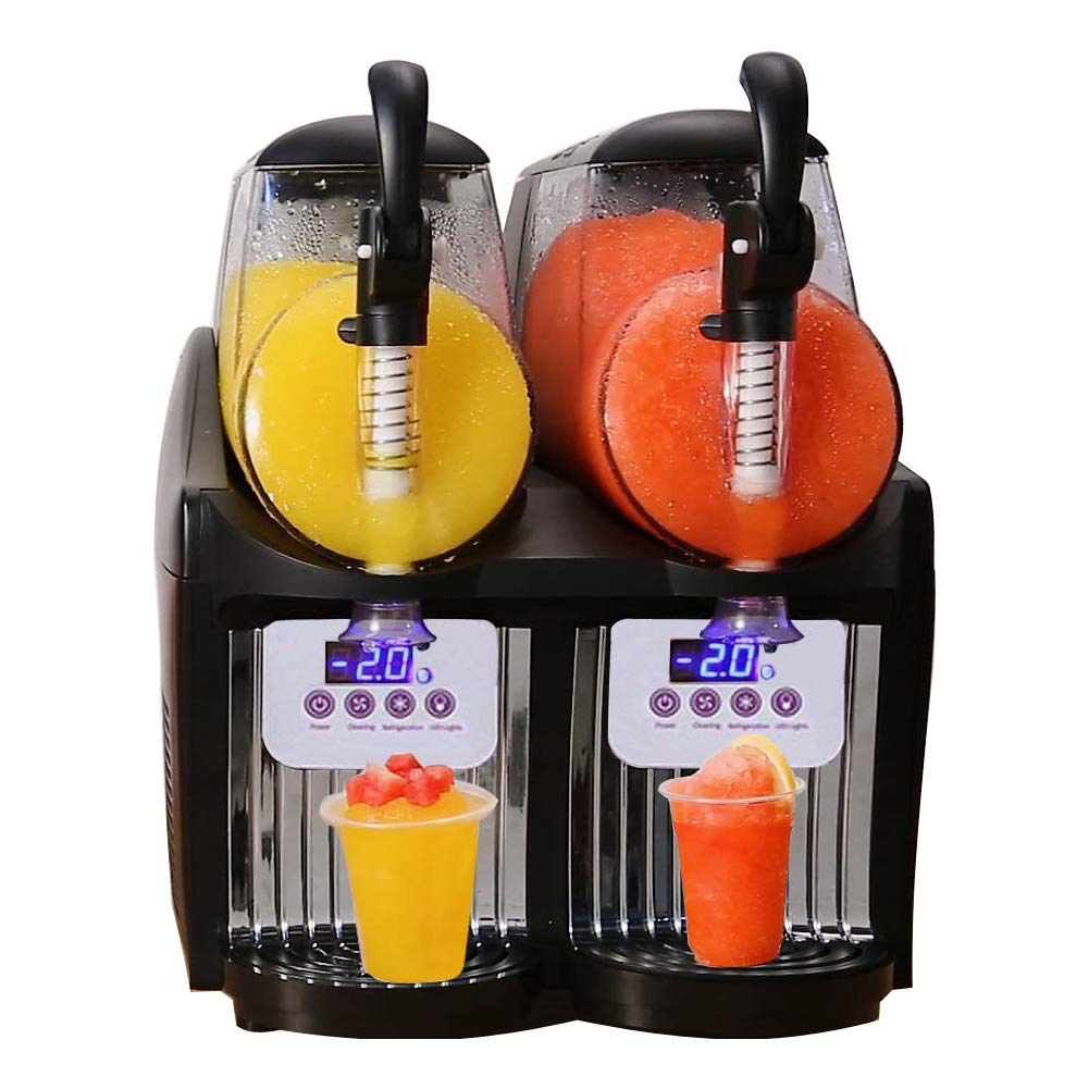 2019 Mini Zwei Köpfe Gefrorene Slush Vending Maschine Smoothie Slush Maschine smoothie eisbrei maschine