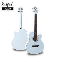 Cheapest Made in China White Guitars Factory 40inch Linden High Gloss OEM Classical Guitar for Sale
