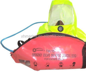 Full face mask and hood are available emergency escape breathing device(EEBD)