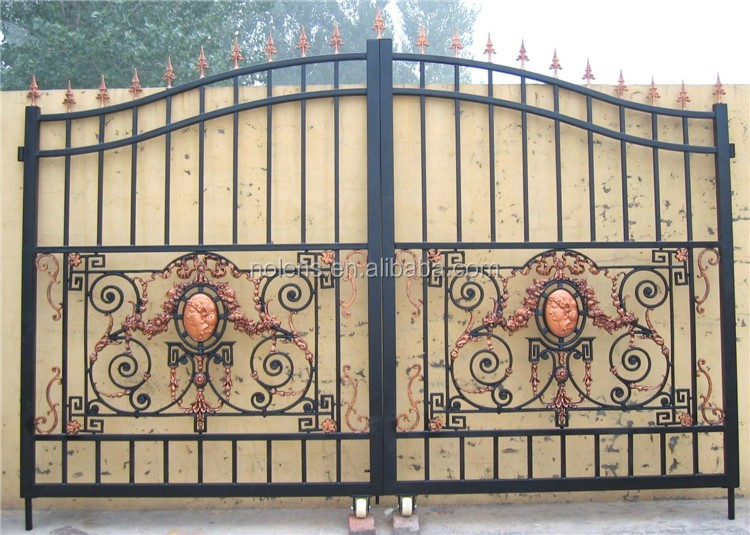 Wrought Iron Gate Designs For Homes Made In China, Hot Sales Door Iron Gate