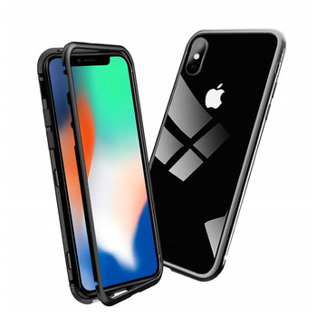 super popular 9d3b0 82884 Glass Cover Metal Frame Magnetic Adsorption Phone Case For Iphone X - Buy  Magnetic Adsorption Phone Case,Phone Case For Lg 2g Covers,Magnetic Case ...